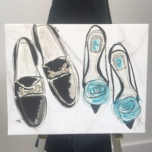 Other - Gucci & Dior Flat Shoe Canvas Print